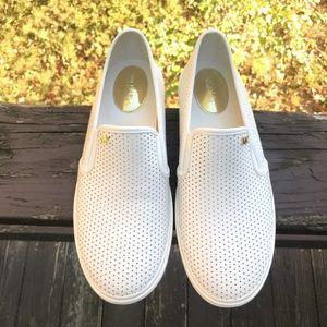 Michael Kors Boerum White leather Sneakers Sz 10